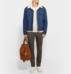 Maison Margiela Slim-Fit Cotton and Linen-Blend Twill Chinos
