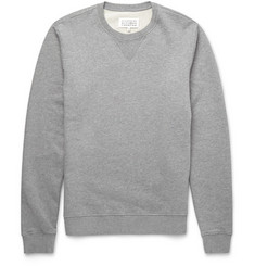 Maison Margiela Leather Elbow Patch Cotton Sweatshirt