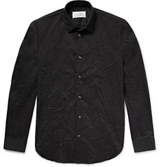 Maison Margiela - Slim-Fit Crinkled Cotton-Blend Shirt