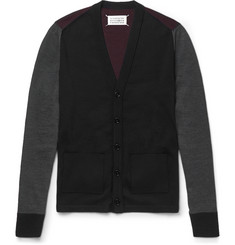 Maison Margiela Colour-Block Wool Cardigan