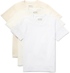 Maison Margiela Three-Pack Cotton-Jersey T-Shirts