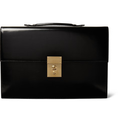 Thom Browne - Polished-Leather Briefcase
