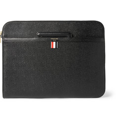 Thom Browne Pebble-Grain Leather Document Holder
