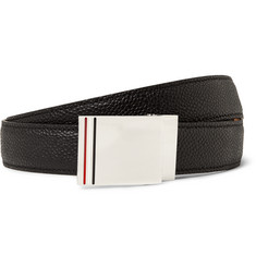 Thom Browne 2.5cm Black Pebble-Grain Leather Belt