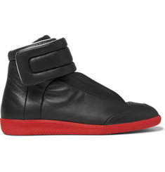 Maison Margiela Future Leather High-Top Sneakers