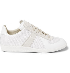 Maison Margiela Replica Leather, Suede and Mesh Sneakers