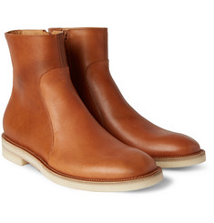 Maison Margiela Brushed-Leather Chelsea Boots