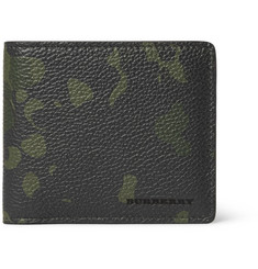 Burberry Shoes & Accessories Camouflage-Print Full-Grain Leather Billfold Wallet