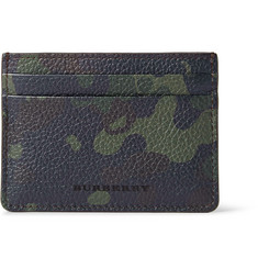 Burberry Shoes & Accessories Camouflage-Print Full-Grain Leather Cardholder