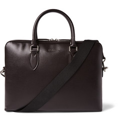 Burberry Shoes & Accessories Cross-Grain Leather Briefcase