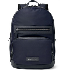 Burberry London Leather-Trimmed Shell Backpack