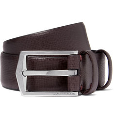 Burberry Shoes & Accessories 3cm Wine Grained-Leather Belt