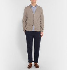 Massimo Alba Watercolour-Dyed Shawl-Collar Cashmere Cardigan