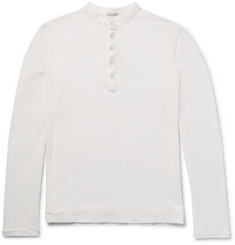 Massimo Alba - Garment-Dyed Cotton Henley T-Shirt