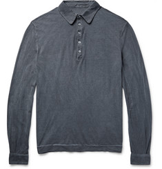 Massimo Alba Slim-Fit Garment-Dyed Cotton-Jersey Polo Shirt