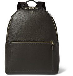 Smythson Burlington Textured-Leather Backpack