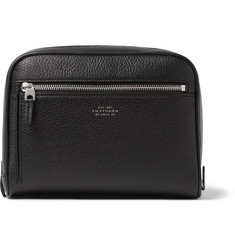 Smythson Burlington Grained-Leather Wash Bag