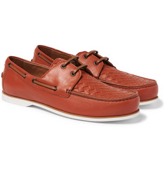 Bottega Veneta - Intrecciato Leather Boat Shoes