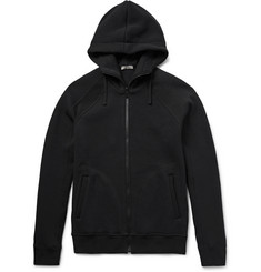 Bottega Veneta Panelled Zip-Up Cotton-Jersey Hoodie
