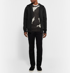 Bottega Veneta Panelled Cotton-Jersey Zip-Up Hoodie