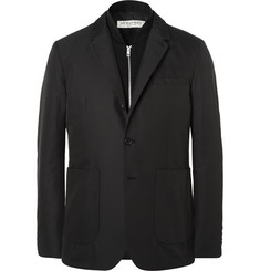 Burberry London Black Slim-Fit Shell Blazer With Detachable Wool Gilet