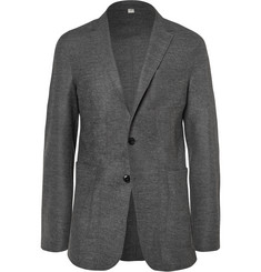 Burberry London Grey Slim-Fit Wool-Blend Blazer