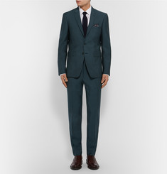 Burberry London Petrol Slim-Fit Wool and Mohair-Blend Trousers
