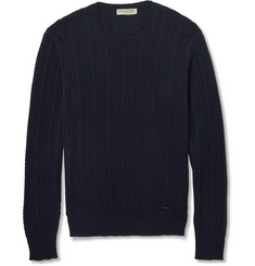 Burberry London - Slim-Fit Cable-Knit Cashmere Sweater