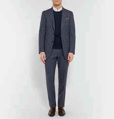 Burberry London Slim-Fit Cable-Knit Cashmere Sweater