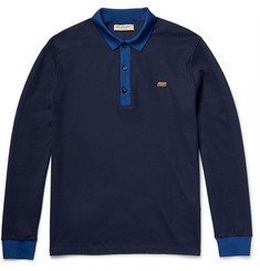 Burberry London Contrast-Trimmed Cotton-Piqué Polo Shirt