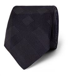 Burberry London Patterned Silk-Jacquard Tie