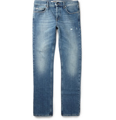 McQ Alexander McQueen Slim-Fit Distressed Denim Jeans