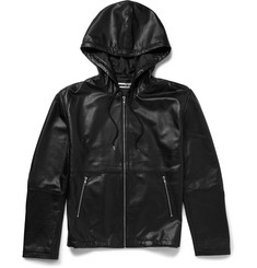McQ Alexander McQueen - Leather Hooded Jacket