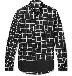 McQ Alexander McQueen - Slim-Fit Printed Cotton-Poplin Shirt