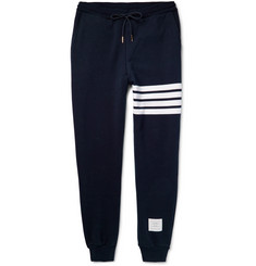 Thom Browne - Striped Loopback Cotton-Jersey Sweatpants