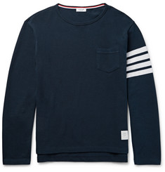 Thom Browne - Striped Cotton-Piqué T-Shirt