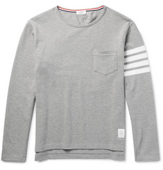 Thom Browne - Striped Cotton-Piqué Shirt