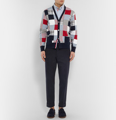 Thom Browne Patchwork Cotton Cardigan