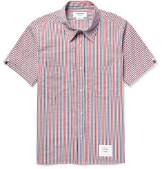 Thom Browne Slim-Fit Striped Seersucker Shirt