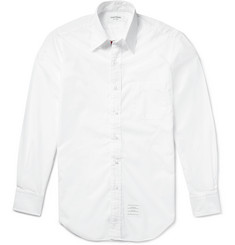 Thom Browne - Slim-Fit Button-Down Collar Cotton-Poplin Shirt