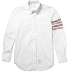 Thom Browne Slim-Fit Striped Cotton-Poplin Shirt