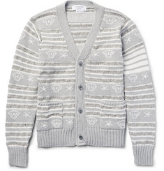 Thom Browne - Intarsia Cotton, Wool and Mohair-Blend Cardigan
