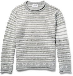 Thom Browne Intarsia Cotton, Wool and Mohair-Blend Sweater