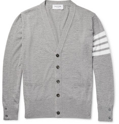 Thom Browne - Striped Merino Wool Cardigan