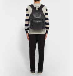 Lanvin Panelled Python and Shell Backpack
