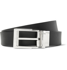 Lanvin - 2cm Black Reversible Leather Belt