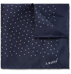 Lanvin - Polka-Dot Silk Pocket Square