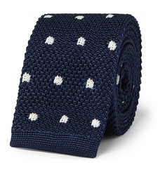 Lanvin Dotted Knitted Silk Tie