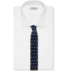 Lanvin - Dotted Knitted Silk Tie