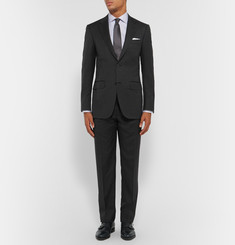 Canali Charcoal Slim-Fit Wool Suit